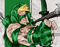 Green Arrow and Flash - Sketch