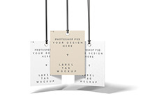 Free fashion label tag mockup