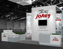 Jokey exhibition stand