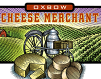 Oxbow Cheese Merchant Logo Illustrated by Steven Noble