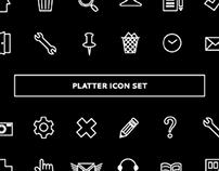 Platter Icon Set