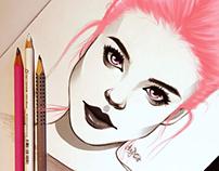 Pink Eyes Girl