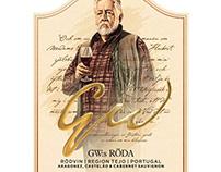 Leif GW Persson. Winelabel for Tegnér & Son