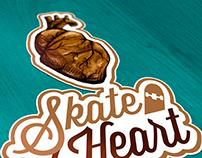 Skate heart - logo e ilustración