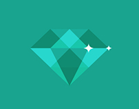 Flat design diamond