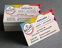 Logotipo e Carão de Visita - Bazar Magistral