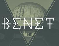 Benet doble line · Typography
