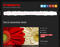 My Depressive Free WordPress Theme