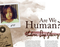Editorial Design - Human Trafficking