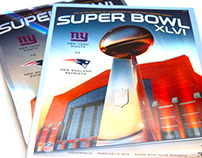 Super Bowl XLVI Guide & Ticket Art