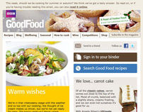 BBC Good Food Web Design