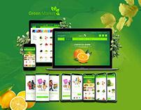 Green Market e-commerce application UI UX Design