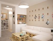 Loft + Provence flat