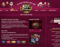 Music Mayhem Website and Flash app