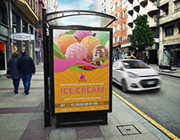 Ice Cream Poster Template Vol.3