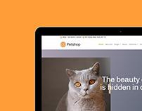 Petshop WordPress Theme - Tablet View