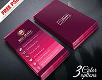 Creative Designer Business Card PSD Freebie
