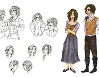 Character Design: 1800s Couple (Amelia and James)
