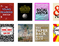 Book Club Cover Designs for Local Bookstore Website