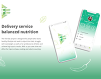 Feal Eat Mobile App. Healthy food delivery service