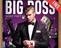 Big Boss - Free PSD Flyer Template