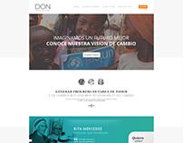 Heroes Donweb. Web Design