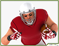 3D Model: American Football Player HQ 009