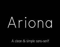 Ariona sans-serif font family