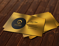 Brushed Metal Gold Business Card