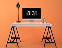 Double Desk (Drawing and Work)