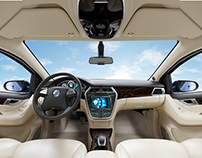 3D automotive interior