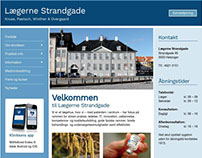 Lægerne Strandgade - Web design for Wordpress
