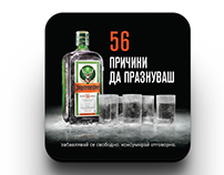 Bar coasters for Jägermeister