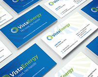 PRINT DESIGN: Vista Energy (Australia) - Business Cards