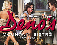 Promotion and advertising for Deno's Mountain Bistro