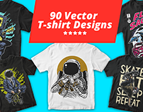 90 Vector t-shirt designs