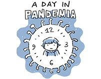 A Day in Pandemia - 24h comic