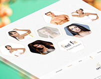 Feel Fit - Fitness Trainers - One Page PSD Template