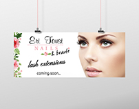 Poster for lash extensions