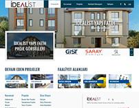 İdealist Yapı website tasarım çalışması