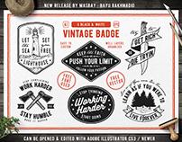 Hand Drawing Vintage Badges & Labels Part #1