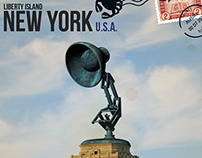 Liberty Island (Luxo - Pixar Version) 3D Model / Postal