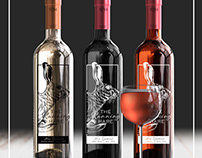 The running hare - Wine branding