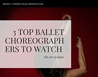 3 Top Ballet Choreographers to Watch