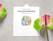 Baby's 1st Birthday Party invitation