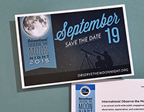 International Observe the Moon Night Postcard