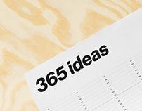 365 ideas / blank calendar