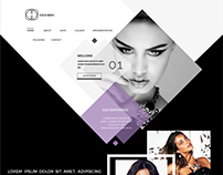 Creative mokeup of jewellery website