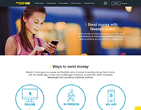 How to send money landing page