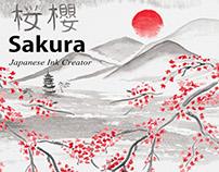 Sakura. Japanese ink creator